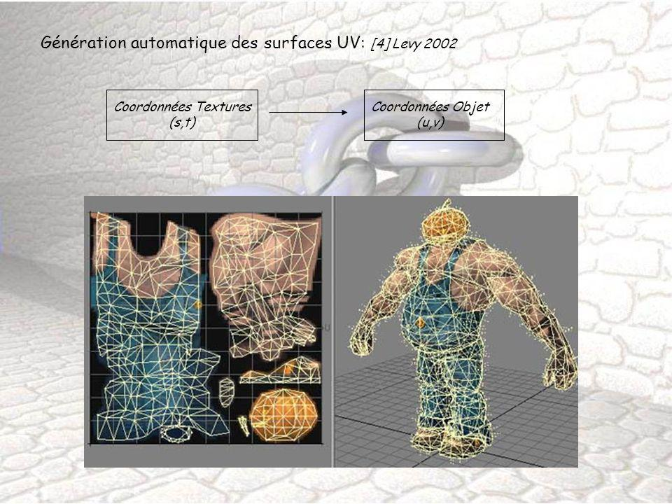 Génération automatique des surfaces UV: [4] Levy 2002